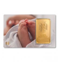 Gold Bar 1oz InnovaMinex Birth #2 Design