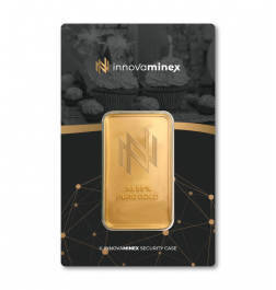 Gold Bar 1oz InnovaMinex Birthday Design