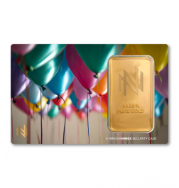Gold Bar 1oz InnovaMinex Birthday #2 Design