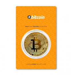 Gold Coin 10gr Bitcoin Design