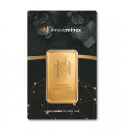 Gold Bar 1oz InnovaMinex Christmas Design
