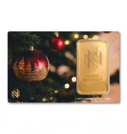 Gold Bar 1oz InnovaMinex Christmass #2 Design